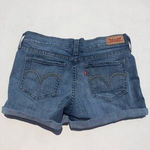 Levis 25 Denim Cuff Stretchy Medium Wash ECU